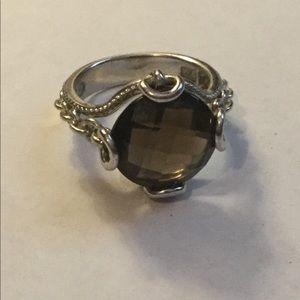 Jewelry - Smokey quartz .925 silver ring size 8